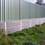 Concrete Sleeper Woodgrain with fence