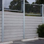 Concrete Sleeper Lonsdale with fence
